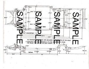 1950 Studebaker 9g Champion 113 W B 50 Frame Dimension Chart 4653bk S3 Ebay