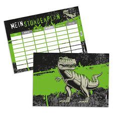 schulbedarf itenga stundenplan school timer t rex dinosaurier echse schule din a4 350 g/qm büro