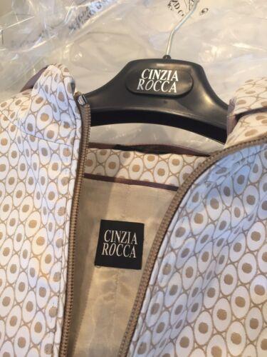Veste à capuche Kaki Nwt Rocca 12 Cinzia courte motif Due q7Cqxg4w6