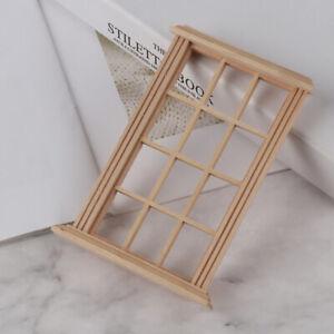 1-12-Dollhouse-Miniature-12-pane-Wooden-Window-Frame-Model-Furniture-Accessor-YK