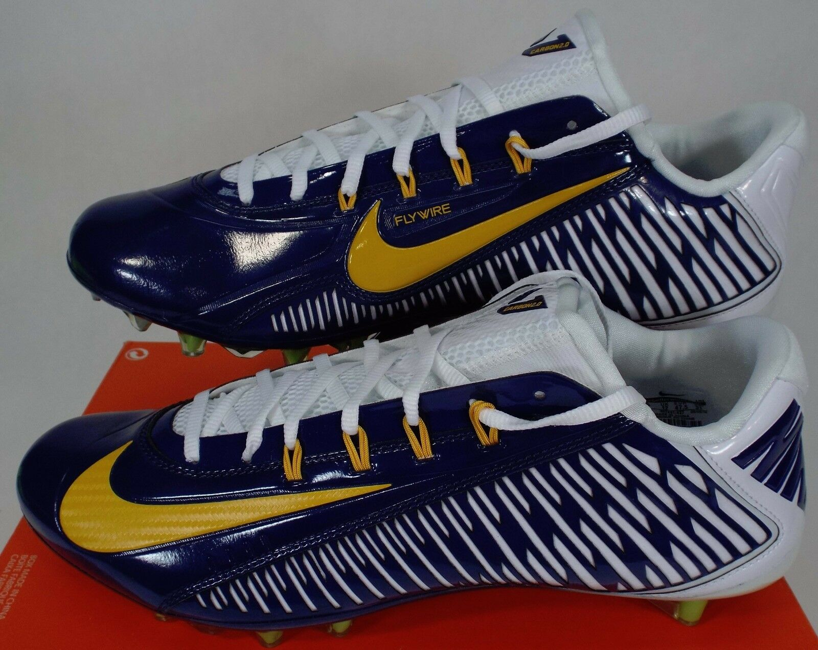 New homme 13 NIKE Vapor Carbon Navy Elite 2018 TD PF Navy Carbon Cleats chaussures 155 657441-427 b82ebd