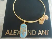 Alex and Ani FOREST NYMPH JONQUIL Charm Bangle Yellow Gold New W/Tag Card & Box