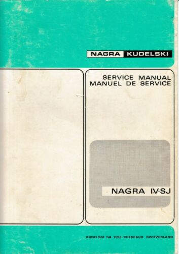 TV, Video & Audio 4-SJ Service Manual fr Nagra IV-SJ Anleitungen ...