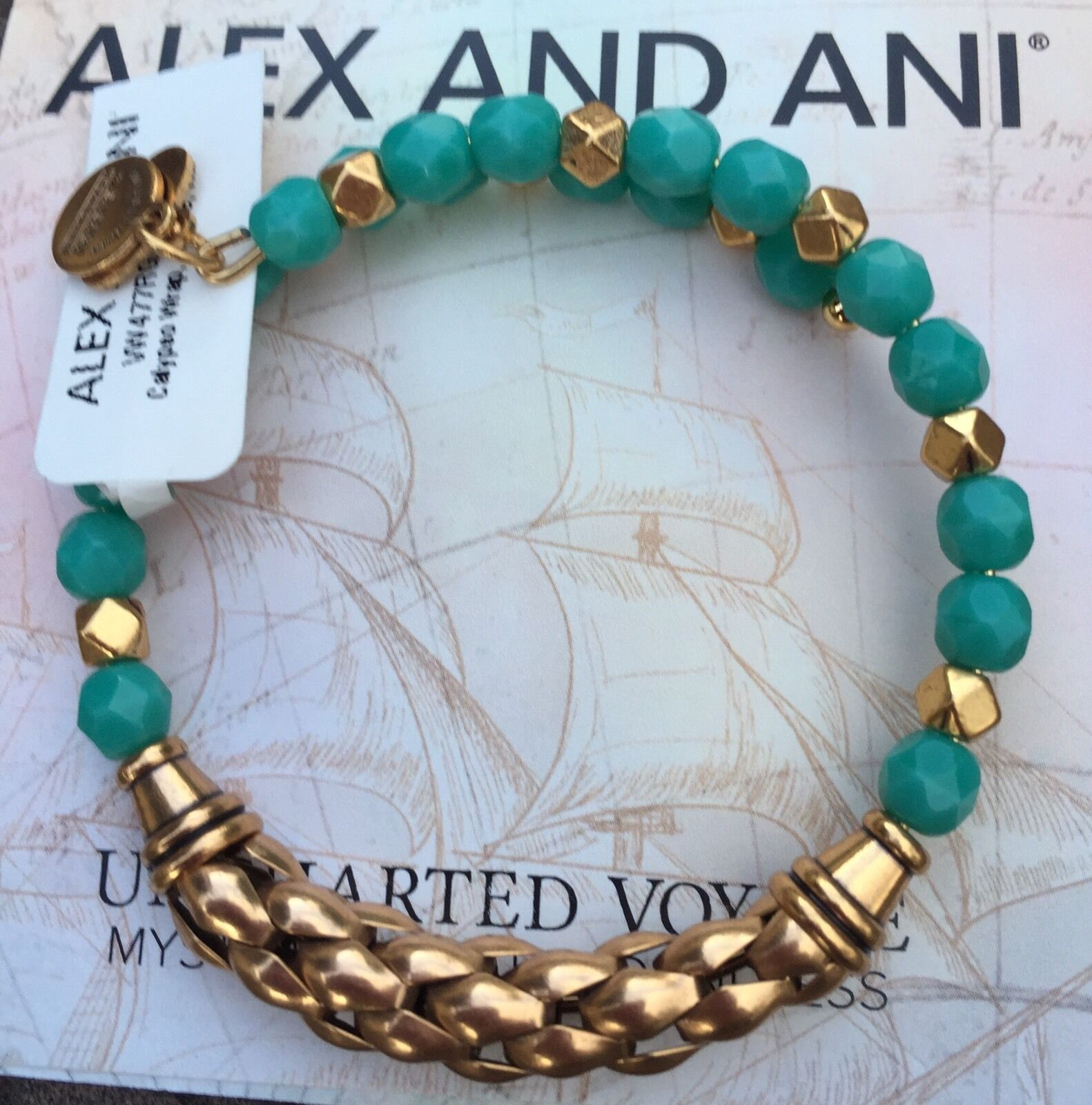 Alex and Ani Calypso Wrap Ripple Russian gold color Bracelet NWT