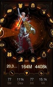 Details about Diablo 3 ROS PS4 Modded Monk (Ulianas Stratagem) Full Set  (Softcore)