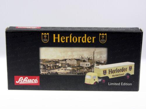 """Schuco Piccolo mercedes koffersattelzug /""""Herforder/"""" # 50184400"""