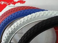 24x1.75 Bmx Comp 3 Vintage Design Tread Bike Bicycle Tire Red White Blue Black