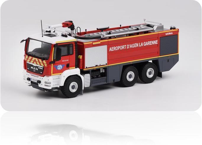 Eligor 115519 - Man Tgs 33.540 Sherpa Flughafen Sides Kartonagen Feuerwehr 1 43