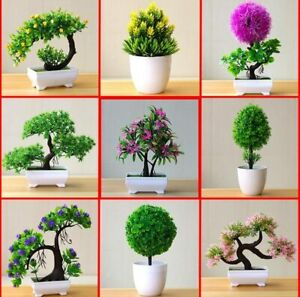 Bonsai Tree In Pot Artificial Flower Plant Decoration For Office//Home Decor