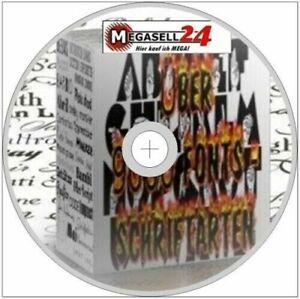 Uber-9000-Fonts-Schriftarten-CD-Rom-Schriften-truetype-design-Werbezettel-1A-NEU