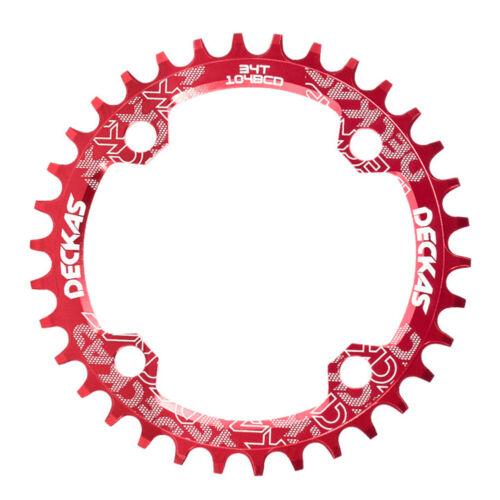Lanrue 104BCD Fahrrad-Kettenblatt rund MTB 34T 36T 38T Kreis-Kurbelgarnitur