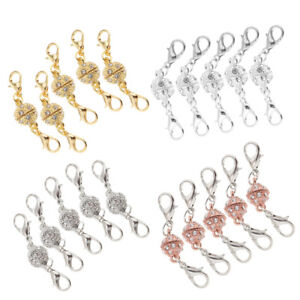 5pcs-Crystal-Ball-Magnetic-Lobster-Clasp-Hook-for-Necklace-Bracelet-Connector