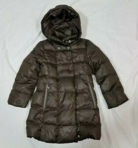 Details zu United Colors Of Benetton Girls Brown Long Down Feathers Puffer Jacket XS 45