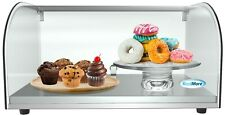 22 Countertop Bakery Display Case With Front Curved Glass And Rear Door