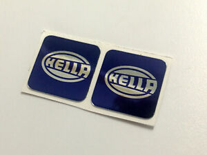 Hella-Spot-Light-Sticker-CHROME-Pair-Volkswagen-T4-T3-Golf-GTI-17x17mm