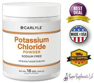 POTASSIUM CHLORIDE POWDER 16 oz Food Grade KCL Supplement Normal Fluid Balance