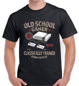 GAMER MEN T SHIRT UNISEX OLD SCHOOL RETRO SON MAN DAD HUSBAND GIFT BIRTHDAY TOP