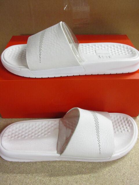 Nike NikeLab Benassi Mens Slide Lux - Size 9 Triple White 818742 100 ... d66b444a2