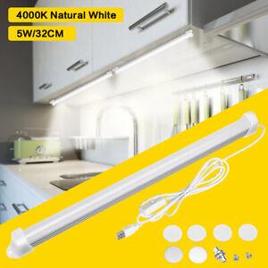 LED-5W-Strip-Bar-Light-Tube-Lamp-Switch-Sensor-Cupboard-Under-Cabinet-Kitchen-US