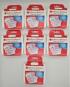 JOHNSON & JOHNSON First Aid To Go Kit 12 Items in Each Kit, 7 Pack