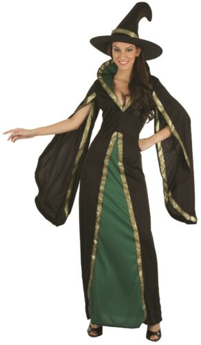 Ladies Wicked Green Witch TV Film Halloween Horror Fancy Dress Costume Outfit