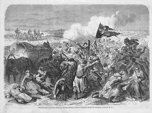 UKRAINIA-UKRAINE-034-BATAILLE-DE-KOVEL-KOWEL-034-GRAVURE-ENGRAVING-1863