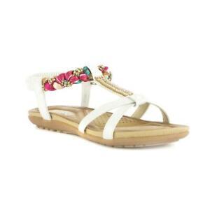 Lilley Womens Beige Slip On Toe Post Sandal Sizes 4,5,6,7,8,9
