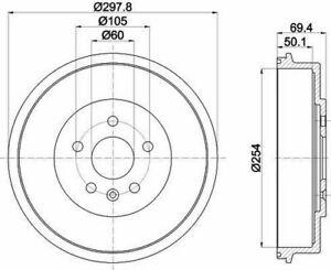 MINTEX MBD375 Bremstrommel Heck