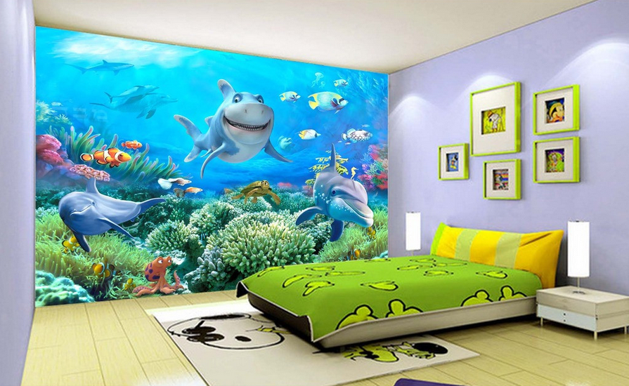 3D Interessante Delfine 754 Tapete Wandgemälde Tapete Tapeten Bild Familie DE    Üppiges Design    Schön und charmant    Langfristiger Ruf