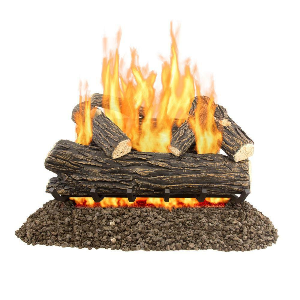 Sure Heat Cs30dbng Sure Heat Country Split Oak Dual Burner Vented Gas Log Set For Sale Online Ebay