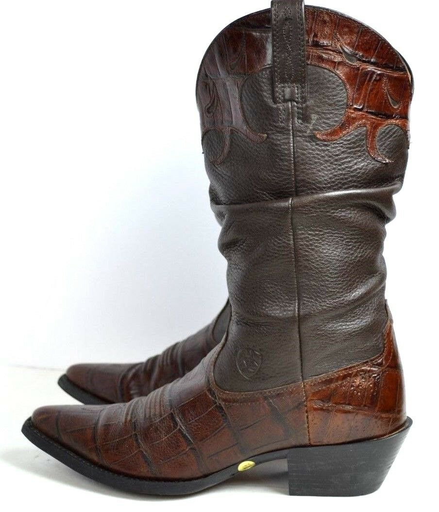 ARIAT TECHNOLOGY BROWN GENUINE BOOTS LEATHER Donna WESTERN BOOTS GENUINE SIZE 7.5 B 2162a1