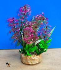 Planta de acuario artificial púrpura Aire Piedra Adorno Pecera tazón Decoración