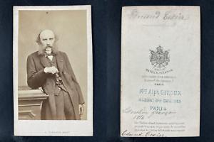 Pierson, Paris, Edmond Texier, journaliste Vintage cdv albumen print.Edmond Te