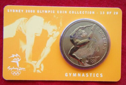 Sydney 2000 Olympic Coin Collection $5 UNC RAM Coin GYMNASTICS 13//28