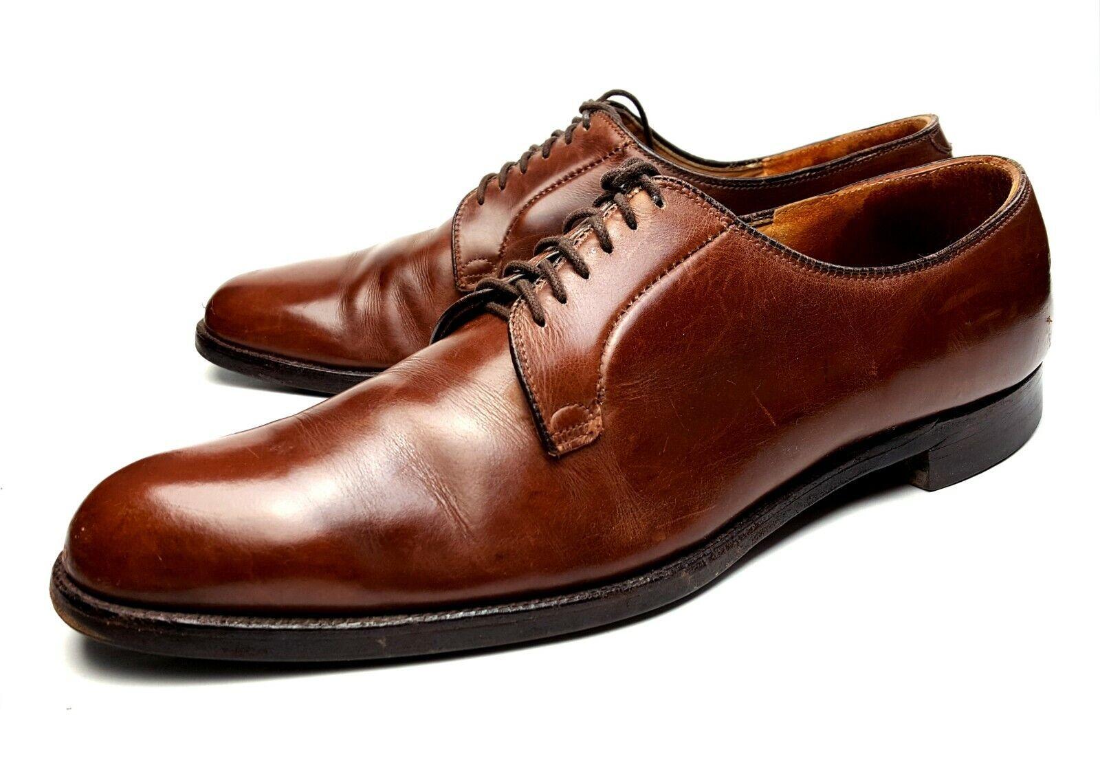 Alden SZ 14 Estados Unidos azulcher zapatos marróns Oxford Derby