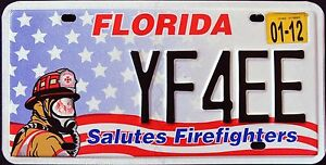 FLORIDA-034-FIREFIGHTER-FIRE-FIGHTER-034-FL-Specialty-License-Plate