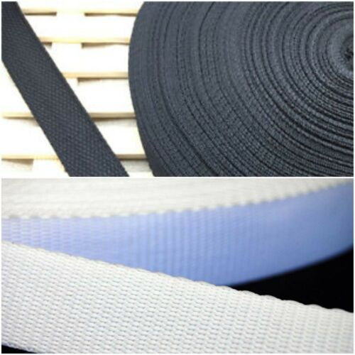 Low Price 25mm Nylon Strong Webbing//Bunting White and Black 1 INCH