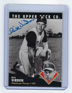 1994-PIRATES-Bill-Virdon-signed-card-Upper-Deck-54-AUTO-Autogaphed-Pittsburgh