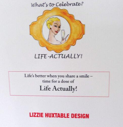 LA51 LIZZIE HUXTABLE ILLUSTRATION BRILLIANT//FUN//WOMAN FRIEND//STYLISH;BIRTHDAY
