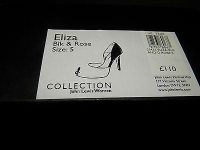 John Lewis Collection (UK5 / EU38) Eliza Black Y Dark Rose 4.5 Zapatos De Tacón