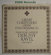 GMA 79 - GREAT COMPOSERS OWN PERFORMANCES Vol 2 - From Piano Rolls -Ex LP Record