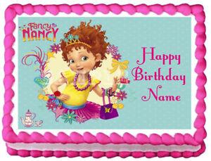 Remarkable Fancy Nancy Party Edible Cake Topper Image Ebay Funny Birthday Cards Online Overcheapnameinfo