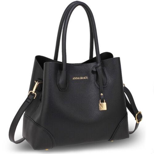 Ladies Fashion Tote Bags Womens Medium Size Faux Leather Shoulder Handbags UK