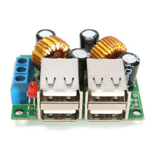4-USB-Port-Step-down-Power-Supply-Converter-Board-Module-DC-12V-24V-40V-to-5V-5A