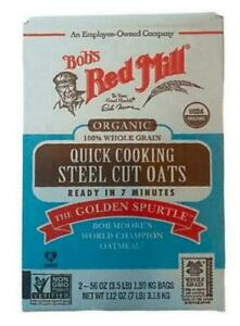 Bob S Red Mill Organic 100 Whole Grain Quick Cooking 2 56 Oz Bags Net 7 Lbs 39978039606 Ebay