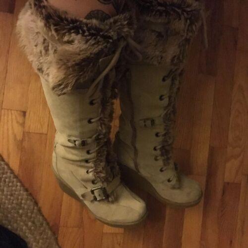 8.5 8 9 High Boot Wedge Fur Nordstrom Report Buckl