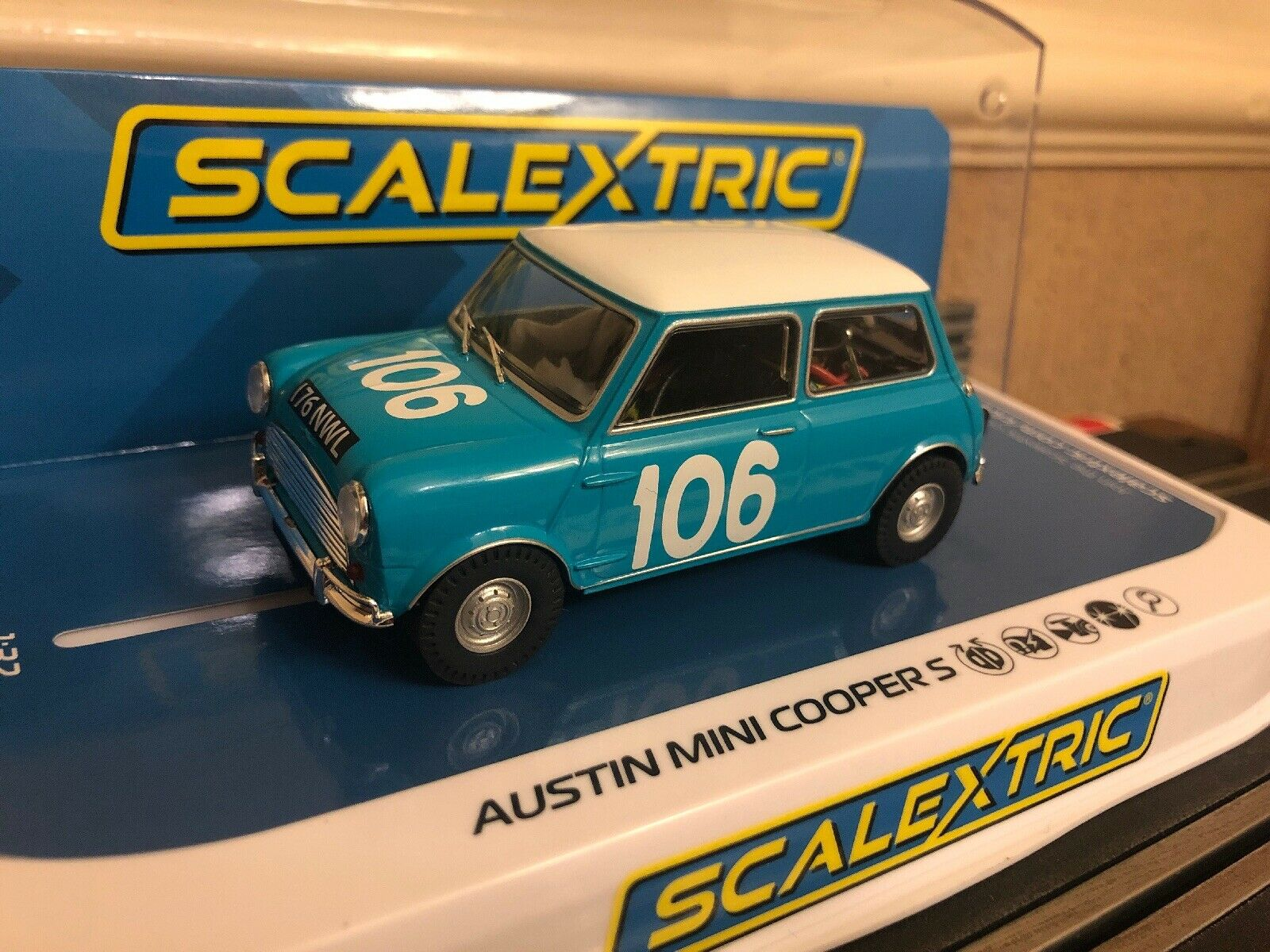 Scalextric Digital Mini Cooper S No106 Targa Florio C3913 Brand New Boxed