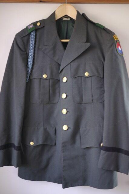 635e915f Vintage 1956 US Army Ranger AG-344 Green Wool Officers Dress Uniform Coat  38S