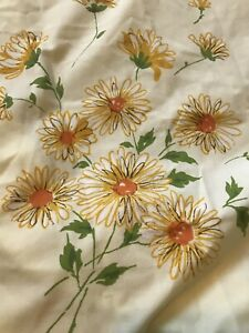 Vintage-Floral-Flowers-Daisies-Miracale-Double-Bottom-Fitted-Sheet-54-x75