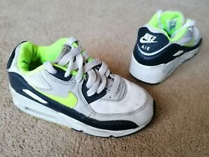 Nike Air Max Trainers White Leather Kids Size 11 Used